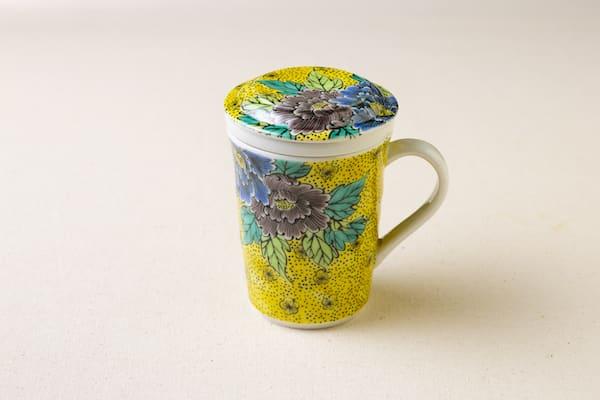 九谷焼三件杯(吉田屋牡丹)画像