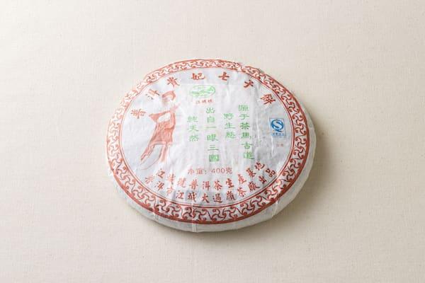プーアール貴妃七子餅茶(2006年、生茶)画像